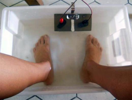 Baño Quimico Medidas:El pediluvio iónico, un baño electrolítico para la eliminación de